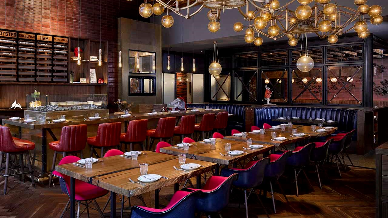 The lobby's adjoining restaurant, Jackrabbit, is led by celebrity chef Chris Cosentino and specializes in New American Fare with locally sourced ingredients.