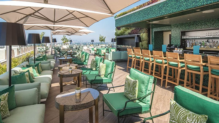 The Rooftop by JG at Waldorf Astoria Beverly Hills began welcoming patrons to its jaw-dropping space in June 2017. // © 2017 Waldorf Astoria Beverly Hills