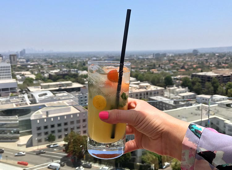 The Rooftop by JG's Kumquat Mojito is a concoction of Ron Matusalem Platino Rum, mint, Fever-Tree soda water and kumquat. // © 2017 Valerie Chen