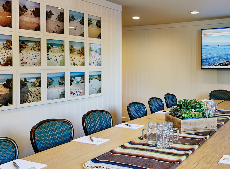 The hotel's new conference room can accommodate up to 15 people for meetings or private dinners. // © 2016 Laguna Beach House