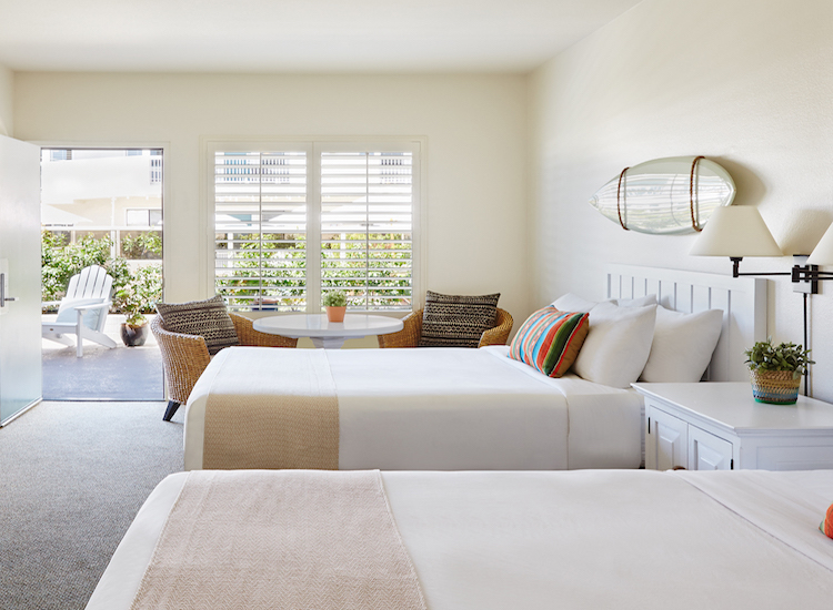 California's Laguna Beach House hotel offers 36 all-white rooms with classic surf decor. // © 2016 Laguna Beach House