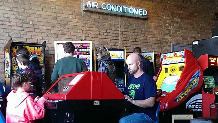 America's Playable Arcade Museum (also known as Arcadia), has roughly 70 arcade machines. // © 2016 John Yates