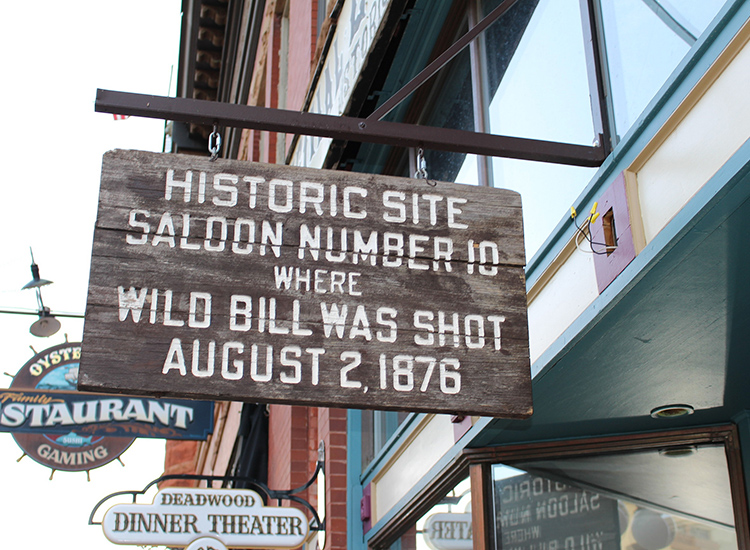 At Saloon 10 in Deadwood, S.D., visitors can see the exact spot where Wild Bill Hickok was shot. // © 2015 Creative Commons user jjandames