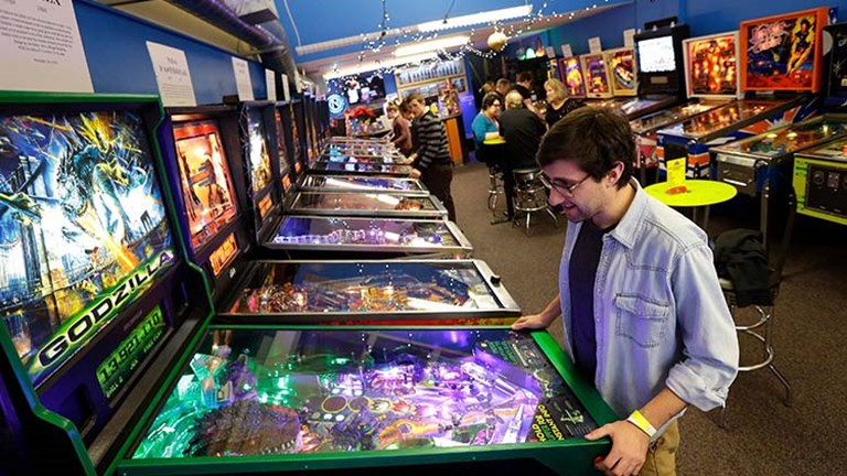 The owners of Seattle Pinball Museum consider the pinball machines to be interactive kinetic works of art. // © 2016 Seattle Pinball Museum LLC