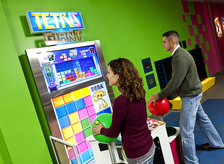 "The Strong, also known as National Museum of Play, has the only ""Giant Tetris"" in North America. // © 2016 The Strong, Rochester, New York"