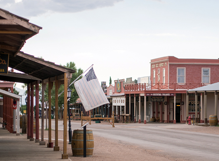 Tombstone, Ariz., still strongly embodies Old West culture and has National Historic Landmark status. // © 2015 Creative Commons user mathieulebreton