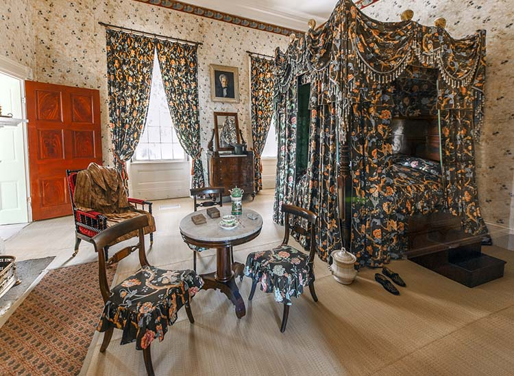 Former U.S. president Andrew Jackson's bedroom at The Hermitage, which is now a National Historic Landmark. // © 2015 Mark Edward Harris