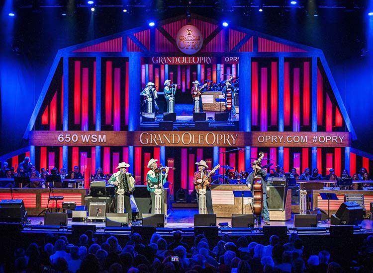 Musical group Riders in the Sky, performs at Grand Ole Opry on March 28, 2015. // © 2015 Mark Edward Harris
