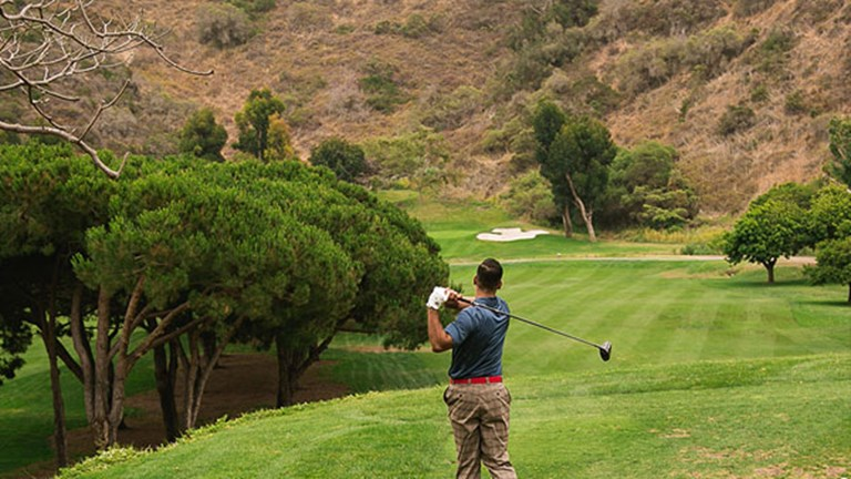 Golfers will love that the nine-hole course is surrounded by nature. // © 2017 The Ranch at Laguna Beach
