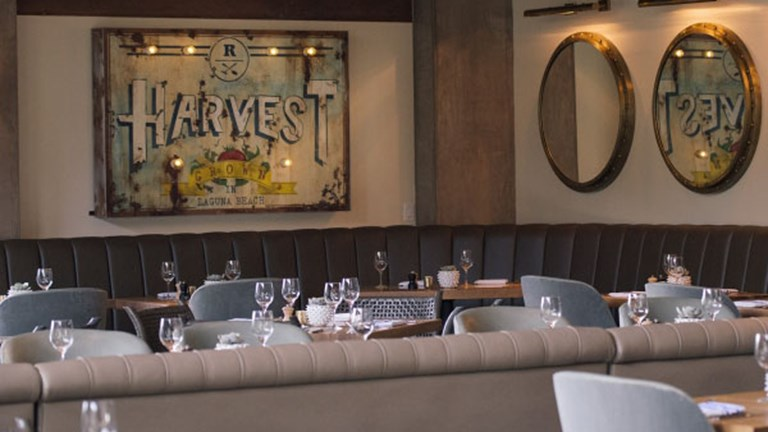 Guests can eat breakfast, lunch and dinner at Harvest restaurant. // © 2017 The Ranch at Laguna Beach