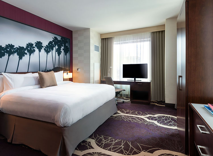 Resident Inn Los Angeles L.A. Live offers studio, one-bedroom and two-bedroom suites for travelers booking longer stays. // © 2014 Marriott