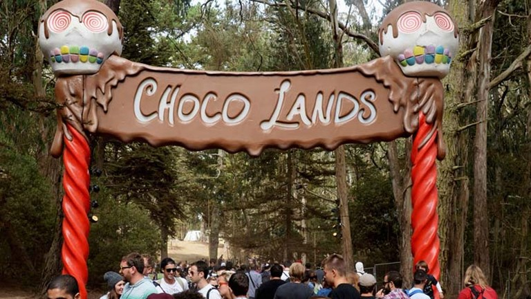 In addition to Beer Lands and Wine Lands, Choco Lands lured festival-goers with sweet treats in a tucked away part of the park. // (c)  Jeff Kravitz/FilmMagic