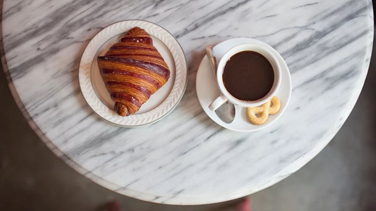 Begin or end your foodie expedition in Los Angeles' Sawtelle neighborhood at Balconi Coffee Company, which serves siphon-brewed coffee and pastries from Superba Food & Bread. // © 2016 Bryant Swanstrom