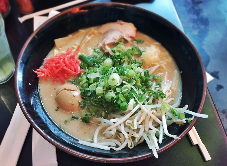The Daikokuya location on Sawtelle Blvd usually has a shorter wait, but the same menu, including delectable ramen and an out-of-this-world shredded pork rice bowl. // © 2016 Creative Commons user T.Tseng