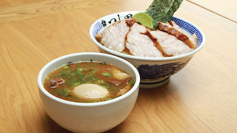 Don't miss the famous tsukemen, or dipping ramen, at Tsujita LA Artisan Noodle. // © 2016 Ocean Photo Studio/WANANN, Inc.