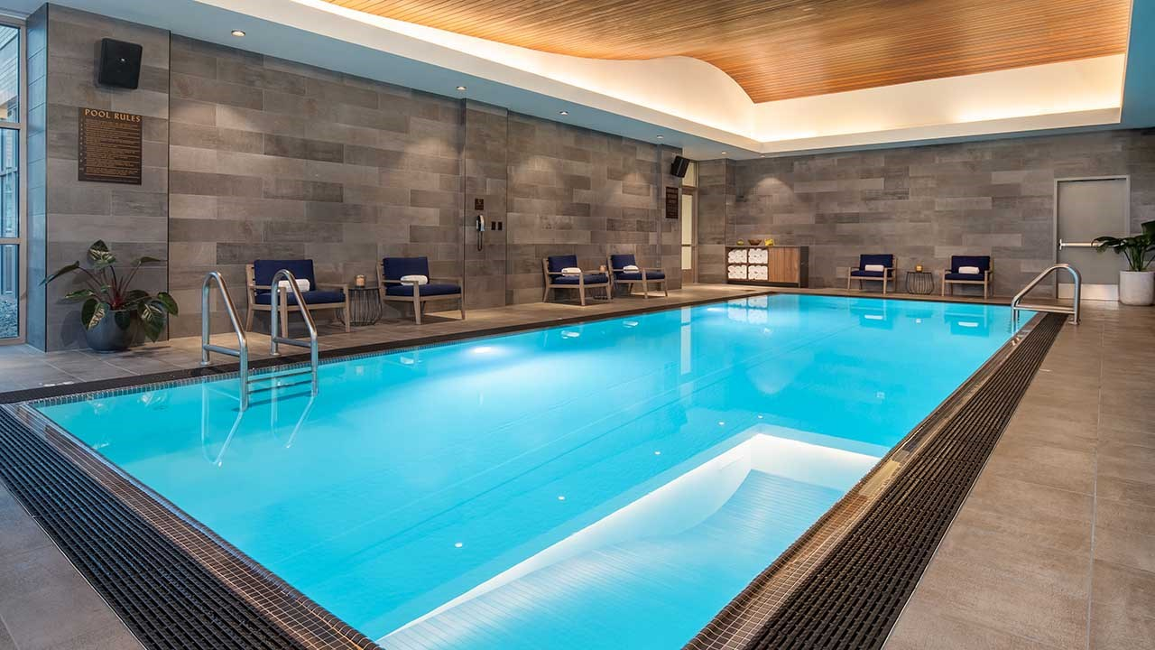 On the 11th floor, guests can enjoy the newly remodeled pool.