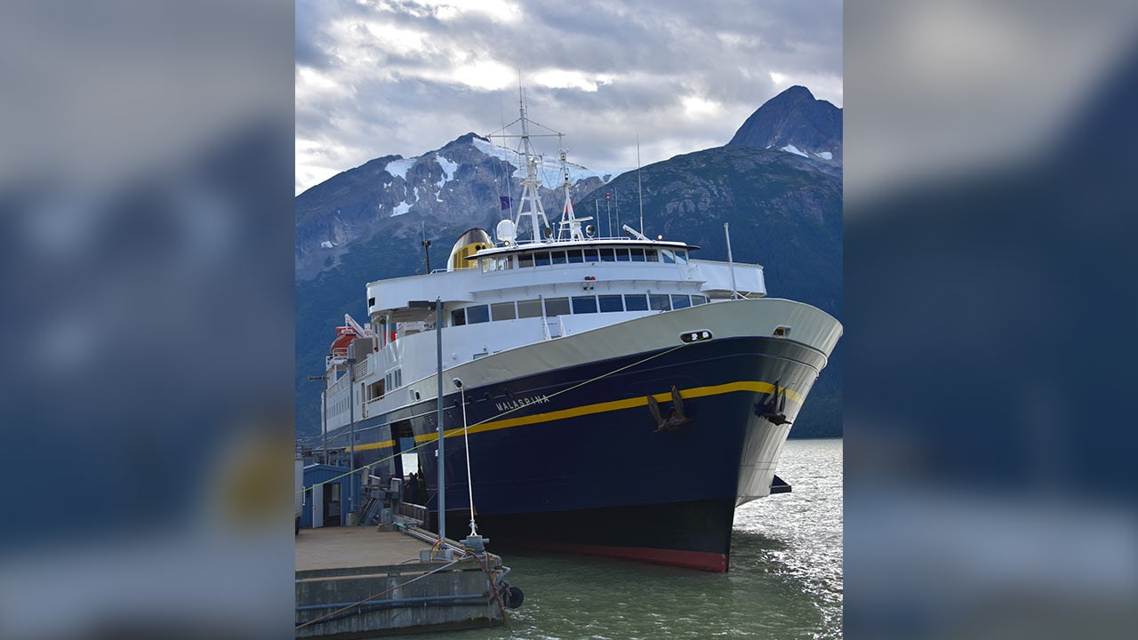 The Alaska Marine Highway System takes passengers to many coastal towns, including Skagway.