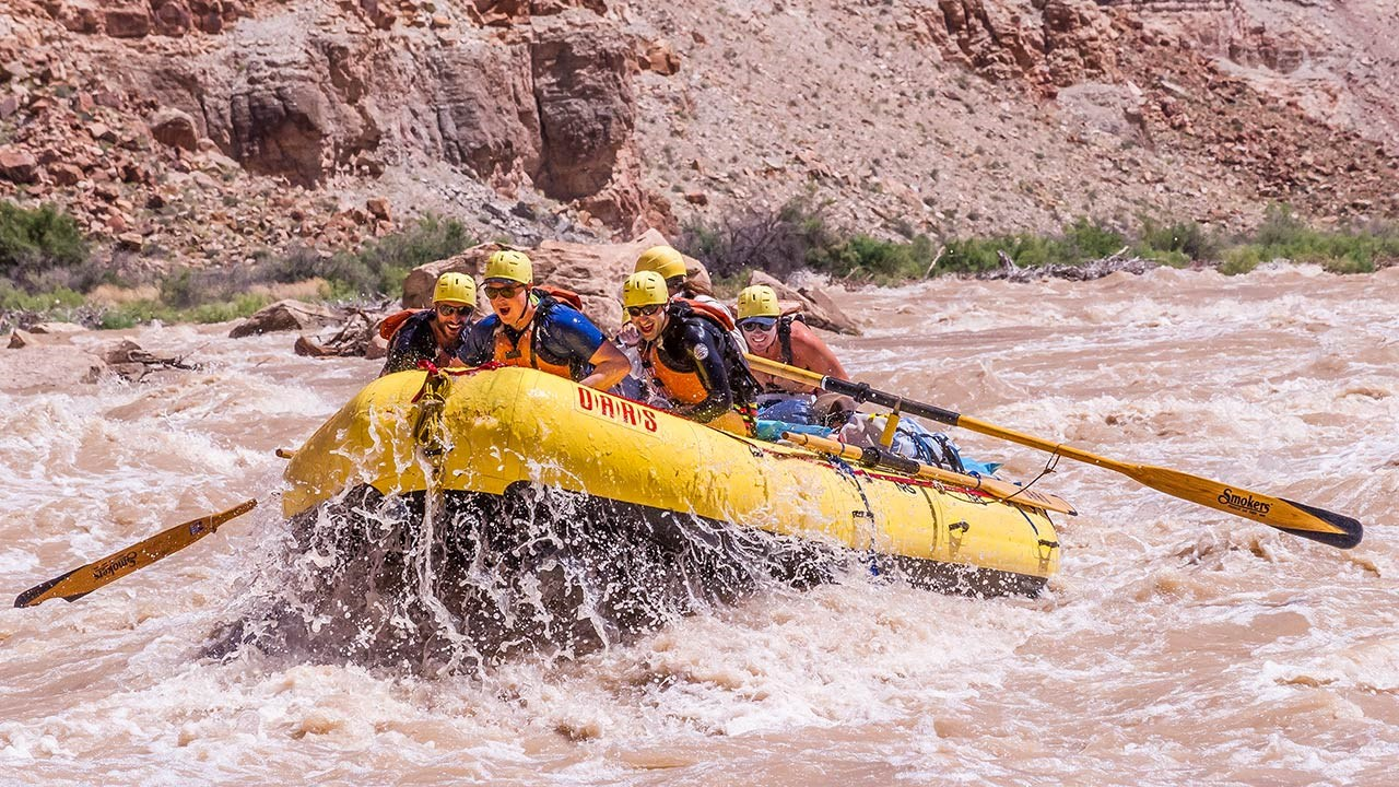 Rafting offers adventure while sticking with a self-contained group.