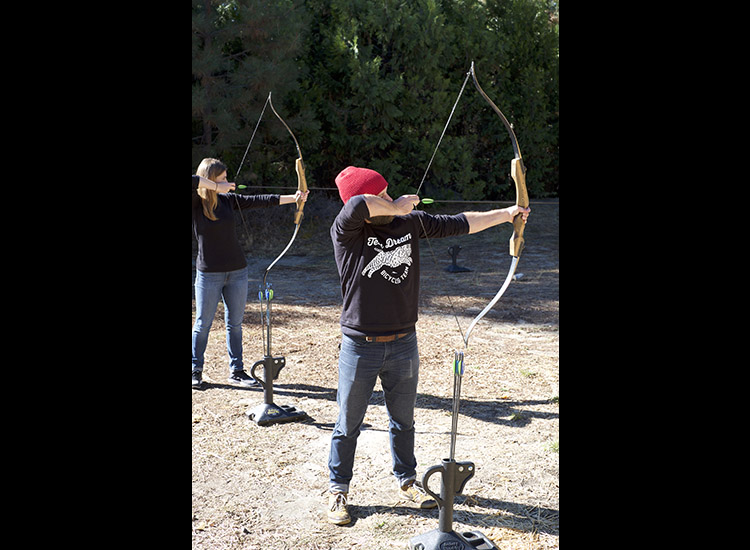 Twosomes can learn archery together with one of Tenaya's many on-site activities, which can be arranged through the concierge and are available for a nominal fee. // © 2016 Kyle Deven