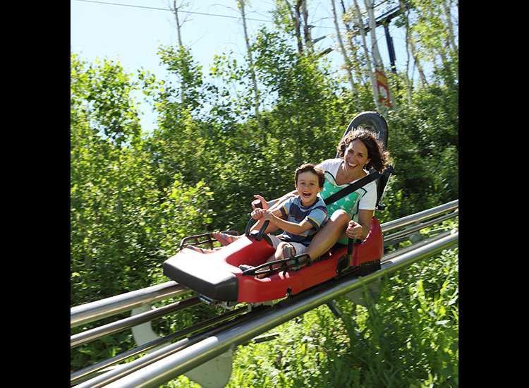 Utah's largest Alpine Coaster gathers speed up to 30 miles per hour. // © 2014 Park City Chamber/Convention and Visitors Bureau