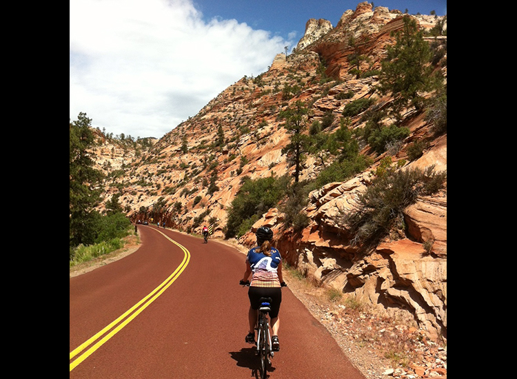 Cycling trips, such as those with Bicycle Adventures, are a unique way to see the park. // © Bicycle Adventures