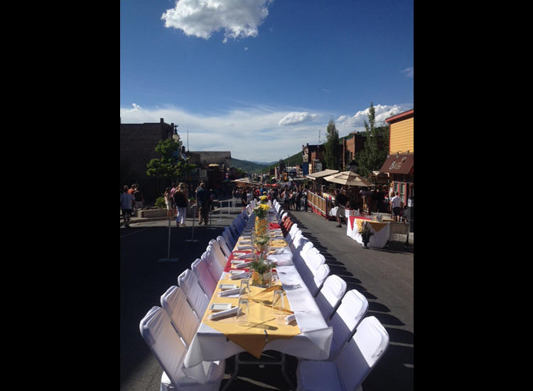 Savor the Summit is Park City's biggest open-air dinner-party. // © 2014 Amy Sung