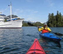 Guests can spend most of their time outdoors during Sea Kayak Adventures' new cruises aboard the 65-foot Ursa Major yacht. // © 2010 Sea Kayak...