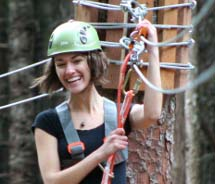 Clients can fly through Skagway's rainforests on a new zipline adventure.  // © 2011 Alaska Excursions