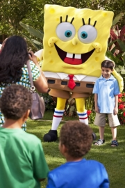 SpongeBob Square Pants appears at JW Marriott Star Pass Resort // (c) 2010