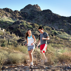Hiking is one way to expert the desert landscape in and around Phoenix. // © 2013 Visit Phoenix
