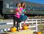 The Pumpkin Patch Train will deliver guests to a secret pumpkin patch. // © 2012 Grand Canyon Railway
