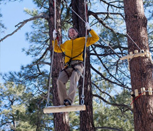 Flagstaff Extreme Adventure Course features a variety of tree-top challenges. // © 2012 Flagstaff Extreme Adventure Course