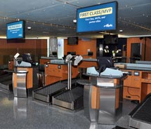 The new Alaska Airlines counters in Terminal 6 of LAX // (c) 2012 Alaska Airlines