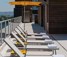 The Hotel Wilshire, now a Kimpton Hotel, features a rooftop pool. // (c) 2013 Kimpton Hotels & Restaurants