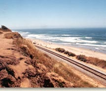 New holiday-themed rail excursions will take place along the Santa Cruz coastline. // (c) 2012 Santa Cruz County Regional Transportation Commission