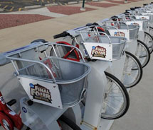 Clients can enjoy the Denver B-cycle program with a package from Oxford Hotel. // © 2012 Denver B-cycle