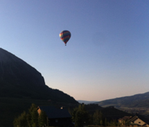 Hot air ballooning gives clients a new perspective of Crested Butte. // © 2013 Nostalgia Ballooning