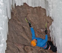 Ice climbing at the Ouray Ice Festival. // © 2012 Ouray Ice Festival