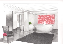 A rendering of the lobby of the new Waikiki Edition // (c) Edition Hotels