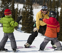 Grand Targhee Resort has upgraded its newly reopened terrain park, with special features for younger guests. // © 2011 Grand Targhee Resort