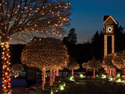 The Coeur d'Alene Resort's Holiday Light Show is one of the largest events of its kind. // © 2011 Coeur d'Alene Resort