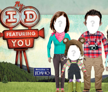 My ID gives guests the chance to cast themselves and others in three Idaho online adventure videos as well as postcards. // © 2012 The Idaho Division...