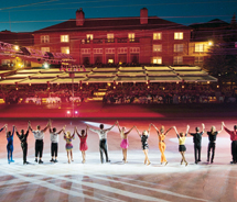 This year's Sun Valley Summer Ice Shows feature Olympic medalists such as Sasha Cohen. // © 2011 Sun Valley Resort