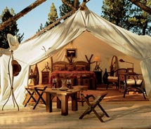 The Moonlight Camp at The Resort at Paws Up offers luxury camping. // c 2012 The Resort at Paws Up