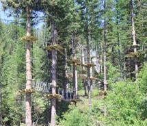Whitefish Mountain Resort features a new Aerial Adventure Park. // (c) 2012 Whitefish Mountain Resort