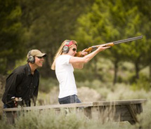 The ranch's new state-of-the-art sporting clay course provides an unlimited supply of ammunition and targets. // © 2011 Ranch at Rock Creek