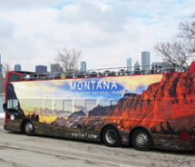 Chicago bus wrap // (c) 2010 Montana Office of Tourism