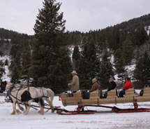 Sleigh ride at the 320 Guest Ranch // © 2010 320 Guest Ranch