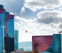 The Voodoo Skyline zip ride will reach speeds of more than 30 mph. // © 2013 Rio All-Suite Hotel & Casino