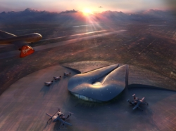 Spaceport America rendering // (c) 2009